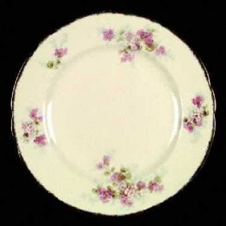 Alfred Meakin Avondale Dinner Plate, Fine China Dinnerware   Pink Flowers,Scallo