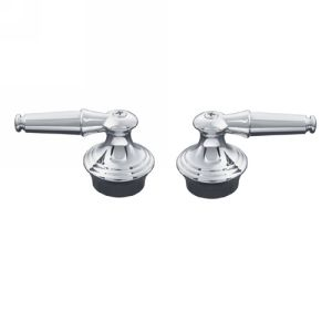 Kohler K 15850 4M CP Coralais Lever Handles with Polished Chrome Inserts