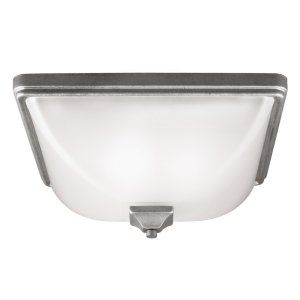 Sea Gull Lighting SEA 7828403BLE 57 Irving Park Three Light Outdoor Ceiling Flus