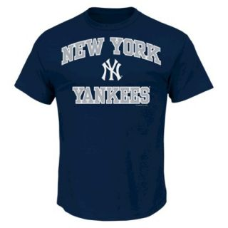 MLB Mens New York Yankees T Shirt   Navy (XXL)