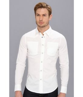 G Star A Crotch Comfort Office Poplin L/S Shirt Mens T Shirt (White)