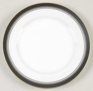 Royal Prestige Nocturne Bread & Butter Plate, Fine China Dinnerware   Black Band
