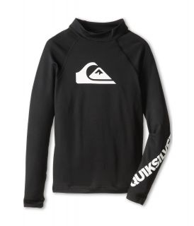 Quiksilver Kids All Time L/S Surf Shirt Boys Swimwear (Black)