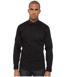 Just Cavalli Slim Fit Shirt Mens Long Sleeve Button Up (Black)