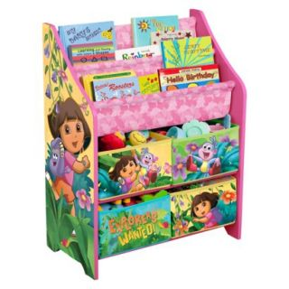 Kids Storage Unit Nickelodeon Book and Toy Organizer   Dora The Explorer