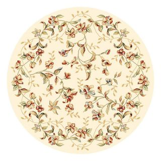 Lyndhurst Collection Floral Beige Rug (4 11 Round) (IvoryPattern FloralMeasures 0.375 inch thickTip We recommend the use of a non skid pad to keep the rug in place on smooth surfaces.All rug sizes are approximate. Due to the difference of monitor colors