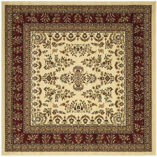 Lyndhurst Collection Ivory/ Red Rug (6 Square)