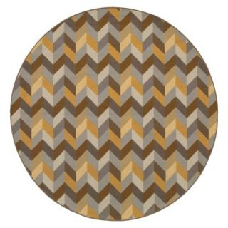 Heidi Chevron Indoor/Outdoor Round Area Rug   710