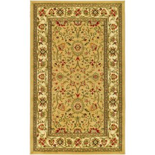 Lyndhurst Collection Majestic Beige/ Ivory Rug (53 X 76)