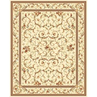 Lyndhurst Collection Traditional Ivory/ Ivory Rug (9 X 12)