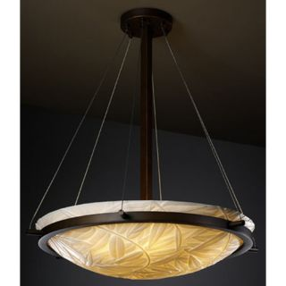 Justice Design Group Porcelina 3 Light Inverted Pendant PNA 96 Metal Finish