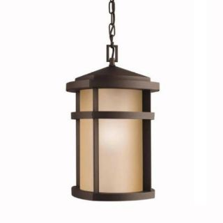 Kichler 9567AZ Outdoor Light, Soft Contemporary/Casual Lifestyle Pendant 1 Light Fixture Architectural Bronze