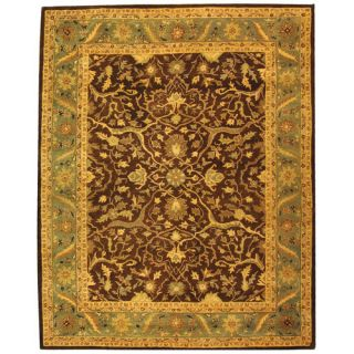 Safavieh Antiquities Brown/Green Rug AT14F Rug Size 76 x 96