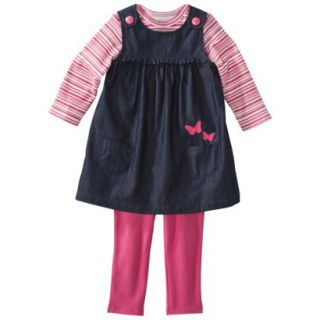 Just One You made by Carters Infant Girls 3 Piece Butterfly Set   Blue/Pink NB