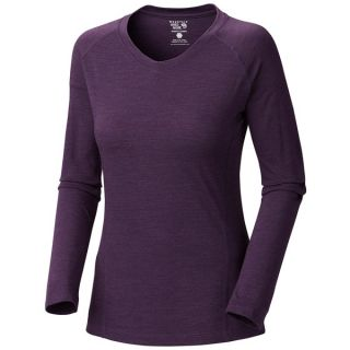 Mountain Hardwear Integral T Shirt   UPF 25  V Neck  Long Sleeve (For Women)   SEA LEVEL (S )