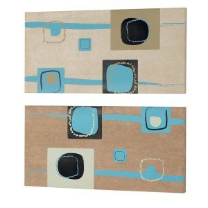 Dainolite DAI DWA009 Universal Square Prints on Silk Fabric Wall Art