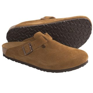 Birkenstock Boston Clogs   Suede (For Men and Women)   BROWN SUEDE (40 )