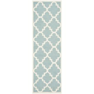 Safavieh Dhurries Light Blue/Ivory Rug DHU633C Rug Size Round 6