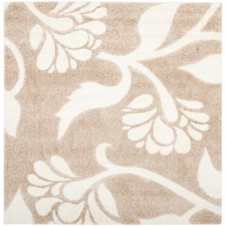 Safavieh Florida Shag Light Crème Rug SG459 1311 Rug Size Square 67