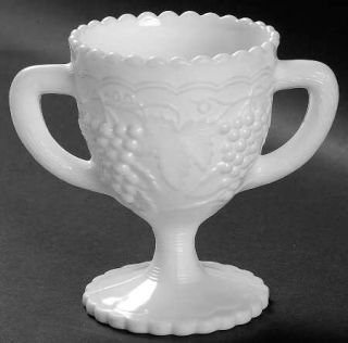 Imperial Glass Ohio Vintage Grape Milk Glass Footed Open Sugar   Milk Glass,Grap