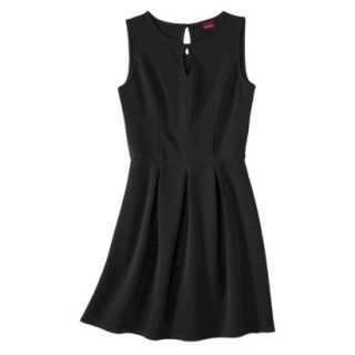 Merona Womens Textured Sleeveless Keyhole Neck Dress   Black   M