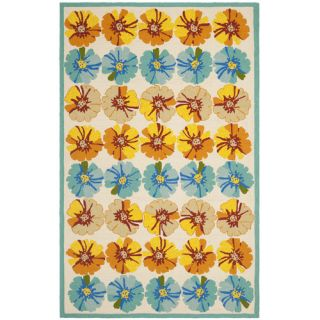 Safavieh Four Seasons Ivory / Blue Rug FRS469A Rug Size 5 x 8