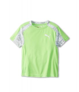 Puma Kids Perform Tee Boys Short Sleeve Pullover (Green)