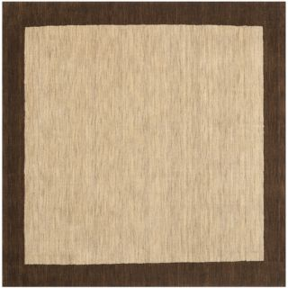Safavieh Himalayan Beige/Dark Brown Rug HIM585A Rug Size Square 6 x 6