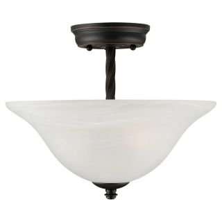 DHI CORP Design House 514935 Drake 2 Light Semi Flush Ceiling Mount   Oil