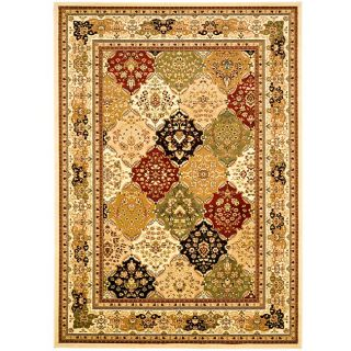 Lyndhurst Collection Multicolor/ Ivory Rug (8 X 11)
