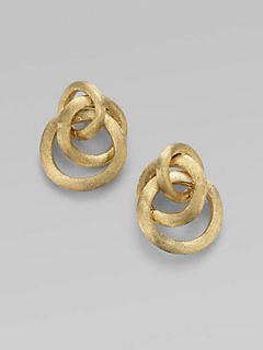 Marco Bicego 18K Yellow Gold Cluster Link Earrings   Gold