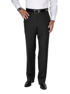 Paul Fredrick Mens 100% Wool Sharkskin Flat Front Pants