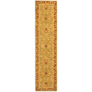Safavieh Anatolia Light Green / Red Rug AN548A Rug Size Runner 23 x 12
