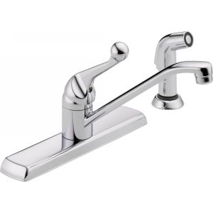 Delta Faucet 420LF Classic Classic Single Handle Kitchen Faucet with Spray