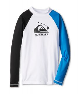 Quiksilver Kids Shaka L/S Surf Shirt Boys Swimwear (White)