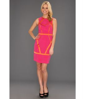 Nicole Miller Heavy Stretch CDC Sleeveless Dress Womens Dress (Pink)