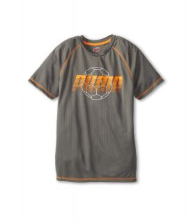 Puma Kids Soccer Tee Boys Short Sleeve Pullover (Pewter)