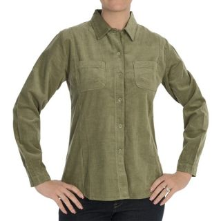 Woolrich Little Creek Shirt   Corduroy  Long Sleeve (For Women)   SAGE (XS )