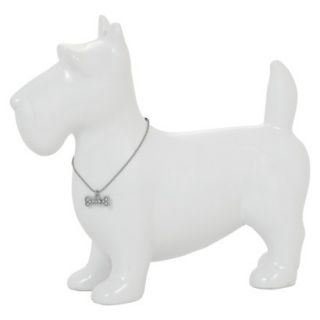 Scottie Dog Figural   White by Torre & Tagus