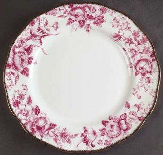 Royal Albert Paradise Red Dinner Plate, Fine China Dinnerware   Red/Pink Floral,