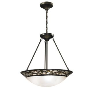 Dale Tiffany Cyprus Oaks 3 Light Inverted Pendant TH12319