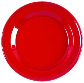 Emile Henry Cerise (Red) Salad/Dessert Plate, Fine China Dinnerware   Red And Wh