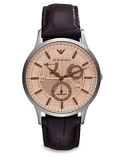 Emporio Armani Renato Stainless Steel Watch   Brown