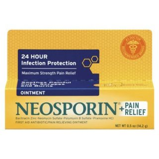 Neosporin Maximum Strength + Pain Relief Ointment   0.5 oz.