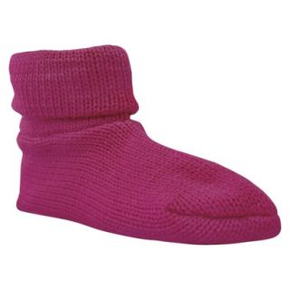 Womens MUK LUKS Cuff Slipper Sock W/ Anti Skid   Fuchsia
