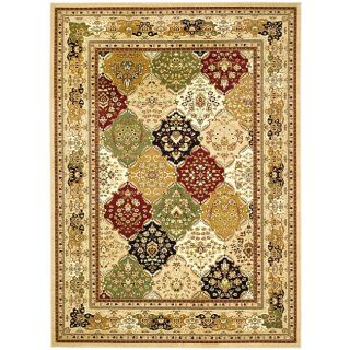 Lyndhurst Collection Multicolor/ Beige Rug (6 X 9)