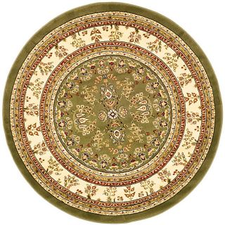 Lyndhurst Collection Large Sage/ivory Rug (8 Round) (GreenPattern OrientalMeasures 0.375 inch thickTip We recommend the use of a non skid pad to keep the rug in place on smooth surfaces.All rug sizes are approximate. Due to the difference of monitor col