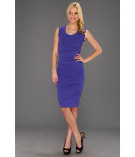 Nicole Miller Tidal Pleat Jersey Dress Womens Dress (Blue)