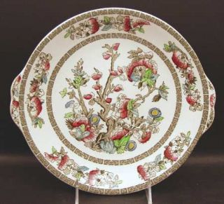 Johnson Brothers Indian Tree (Green Key, Cream) Handled Cake Plate, Fine China D