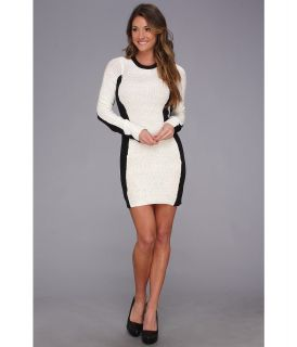 BCBGeneration L/S Round Neck Sweater Dress Womens Dress (White)